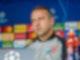 Trainer Hansi Flick setzt mit dem FC Bayern als feststehender Gruppensieger und Achtelfinalist nicht auf seine Bestbesetzung. Foto: Marco Donato/FC Bayern München AG/FCB/dpa
