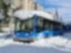 Busse des öffentlichen Nahverkehrs (EMT) stehen zugeschneit auf einer Straße in Madrid. Foto: Marcial Rodríguez/EUROPA PRESS/dpa