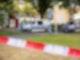 Die Polizei am Tatort in Espelkamp. Foto: Moritz Frankenberg/dpa