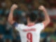 Polens Stürmer Robert Lewandowski jubelt nach dem Treffer zum 1:1. Foto: Cezaro De Luca/dpa