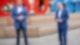 CDU-Kanzlerkandidat Armin Laschet (r) und CSU-Chef Markus Söder geben vor der gemeinsamen Präsidiumssitzung ihrer Parteien ein Pressestatement. Foto: Kay Nietfeld/dpa