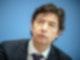 Christian Drosten, Direktor Institut für Virologie der Charité Berlin, bei einer Pressekonferenz. In der Debatte um die Impfquote in Deutschland nimmt der Virologe das Robert Koch-Institut (RKI) in Schutz. Foto: Michael Kappeler/dpa