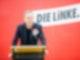 Klaus Lederer (Die Linke), Kultursenator von Berlin und Spitzenkandidat der Berliner Linken, spricht bei einem Sonderparteitag der Berliner Linken. Foto: Christoph Soeder/dpa